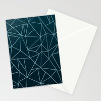 Ombre Ab Teal Stationery Cards