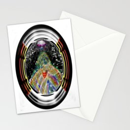 """""""Beez Lee Art : Love Leads Through Circle Darkness"""" Stationery Cards"""