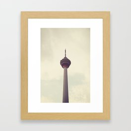 Retro Kuala Lumpur Tower Framed Art Print
