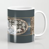 scandal Mugs featuring A Scandal in Belgravia - Mucha Style by Alessia Pelonzi