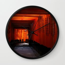 Senbon Torii - Fushimi inari shrine Wall Clock
