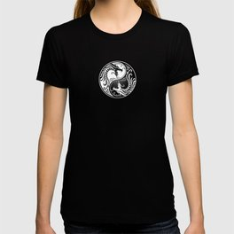 White and Black Yin Yang Dragons T-shirt