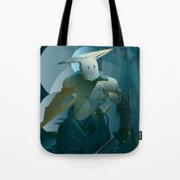 doom Tote Bags featuring DOOM by orlando arocena ~ olo409- Mexifunk