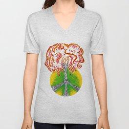 Peace Tree Unisex V-Neck