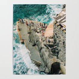 """Travel photography print """"Rocky Beach"""" photo art made in Italy. Art Print Poster"""