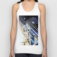 sci fi Tank Tops featuring Sci-Fi Series 1 by eos vector