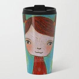 Girl Ala with cat Travel Mug