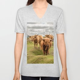 Three Highlanders Unisex V-Neck
