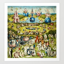 Hieronymus Bosch - The Garden Of Earthly Delights Art Print