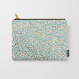 Berry Branches – Turquoise & Gold Carry-All Pouch