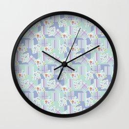 scraps in pastel colors Wall Clock
