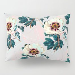 Flowery blooming with geometric Pillow Sham
