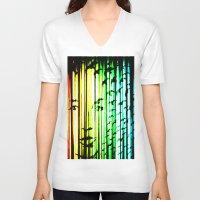 women V-neck T-shirts featuring women  by new art