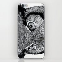 owl iPhone & iPod Skins featuring Owl by Puddingshades
