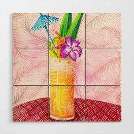 Tiki Drinks no.1 - gouache painting Wood Wall Art