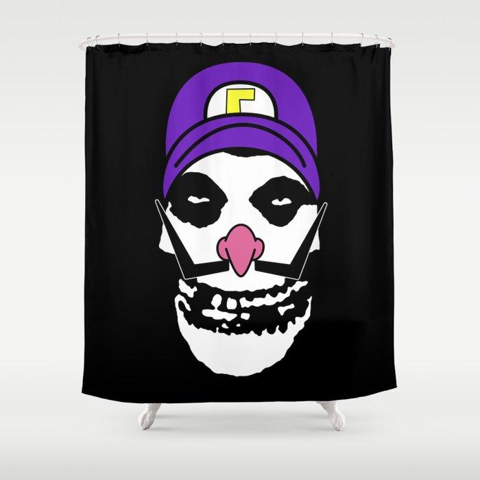 Misfit Waluigi Shower Curtain