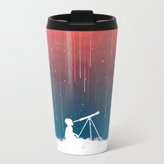 Meteor Rain (light version) Metal Travel Mug