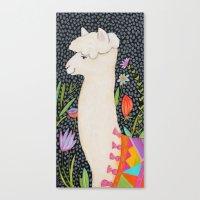 llama Canvas Prints featuring Llama by tascha