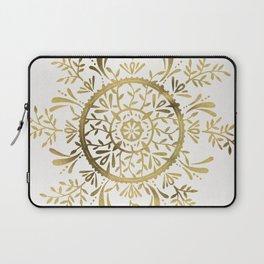 Leaf Mandala – Gold Palette Laptop Sleeve
