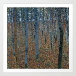 Gustav Klimt - Beech Grove Art Print