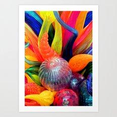Rainbow of colors Art Print