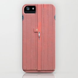 Red Port Hole Door iPhone Case