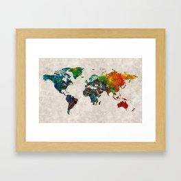 World Map 61 Framed Art Print