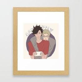 Haikyuu!! - Kurotsuki 4 Framed Art Print