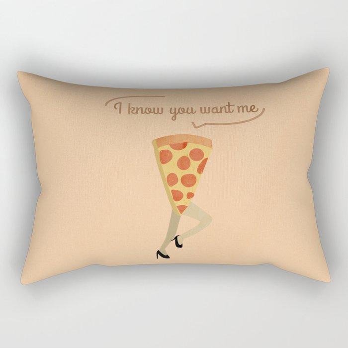 I know you want me Rectangular Pillow