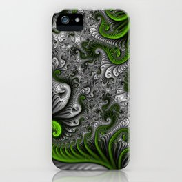 Fantasy World, abstract Fractal Art iPhone Case