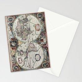 1630 Nova Totius Terrarum Orbis Tabula Map Stationery Cards