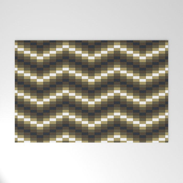 Block Wave Illustration Artwork Welcome Mat
