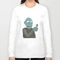 eat Long Sleeve T-shirts featuring eat by yogiobluda