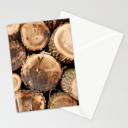 Cut logs Stationery Cards