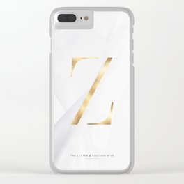 GOLD LETTER COLLECTION | Z Clear iPhone Case