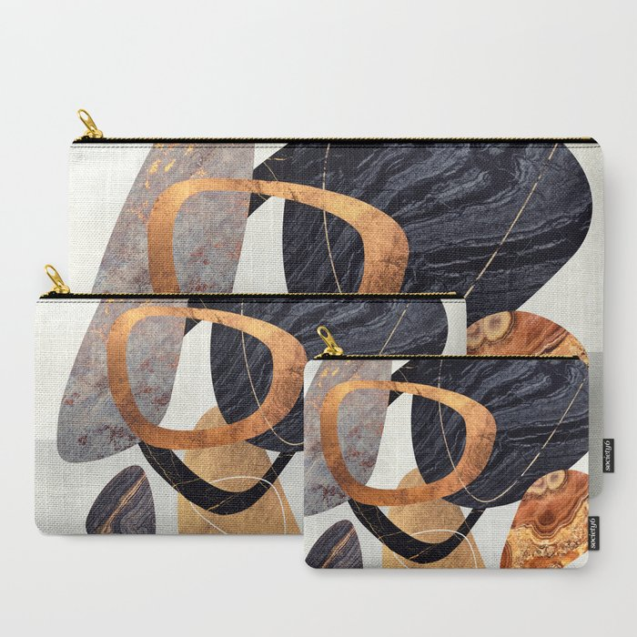 Abstract Pebbles III Carry-All Pouch
