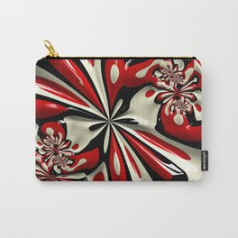 Red Moschino Splotch Carry-All Pouch