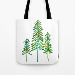 Pine Trees – Green Palette Tote Bag