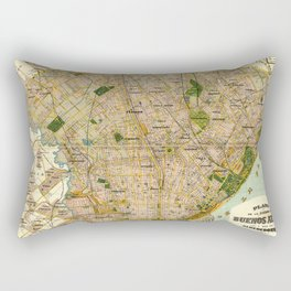 Vintage Map of Buenos Aires Argentina (1921) Rectangular Pillow