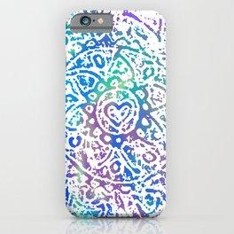 Heart Flower Blue iPhone Case