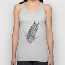 The Long-eared Owl Unisex Tank Top
