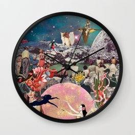 Paradise Collage Inception Wall Clock