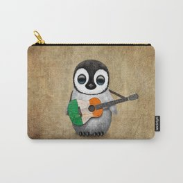 Baby Penguin Playing Irish Flag Guitar Carry-All Pouch