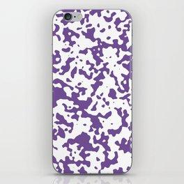 Spots - White and Dark Lavender Violet iPhone Skin