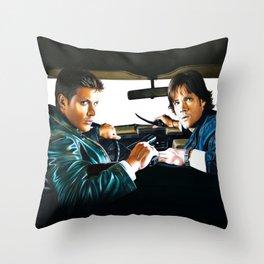 Sam and Dean Supernatural Throw Pillow
