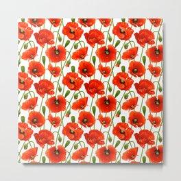 Beautiful Red Poppy Flowers Metal Print
