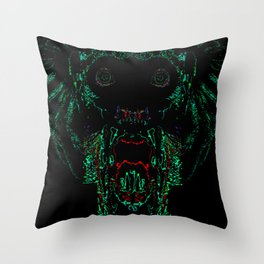 Green Abomination Throw Pillow