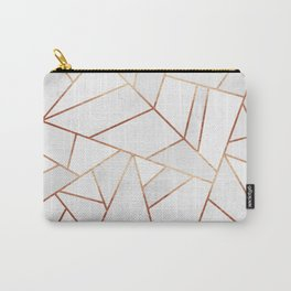 White Stone & Copper Lines Carry-All Pouch