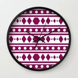 Marsala Tribal Pattern Wall Clock