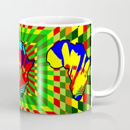 Colorful African Checkered Abstract Print Coffee Mug